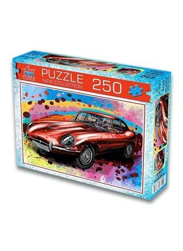 Laço Kids 250 Parça Kırmızı Jaguar Araba Puzzle Renkli
